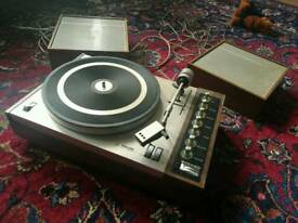 Philips 808 record player complete with original speakers