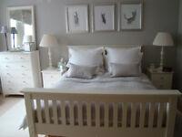 Marks & Spencer Bedroom Set - Double Bed Frame, Chest of Drawers & 2 Bedside Chests
