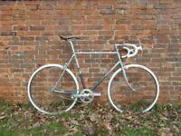 Raleigh Single Speed Bike Large Blue Silver