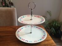 Marks &Spencer two tier cake stand butterfly pattern