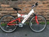 Raleigh MAX Aluminium EF24 Small Adults Full Suspension Mountain Bike