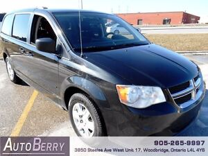 2013 Dodge Grand Caravan SE **CERT E-TEST ACCIDENT FREE** $9,999