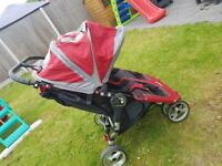 Baby Jogger City Mini Double Stroller - Crimson