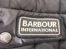 Unisex medium BARBOUR International Quilted Black Jacket new condition 79