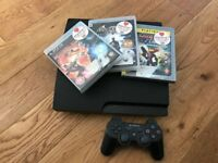 PS3, 1 controller, 3 games