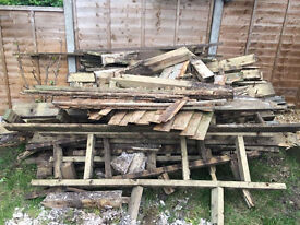 Free firewood (from a recently dismantled garden decking)