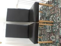 2 brown chairs and one antique chair. Excellent condition Pair of chairs £30 Antique one £25.