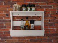 Handmade Soild Soft Wood Spice Rack