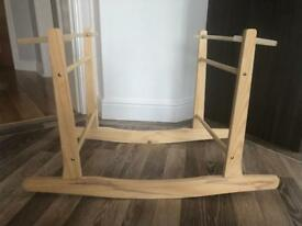 FREE - Claire de Lune wooden rocking Moses basket stand - excellent condition