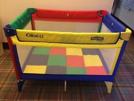Graco travel cot *like new*