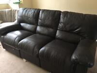 Leather recliner, bunk bed and wooden wardrobes for free collection