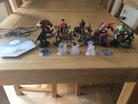X Box One Game, 17 Disney Infinity Characters, 3 Mission Crystals and Portal with USB connection