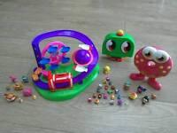 Micro Moshi Monster theme park, storage cases and micro moshis