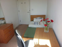 LOVELY BRIGHT SINGLE ROOM IN CLEAN QUIET FLAT from 26 May in Mile End - Bow - All bills included