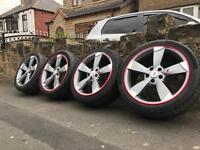 "18"" Audi Rotor Style Alloy Wheels & Tyres 5x112 A3 S3 A4 Rota"