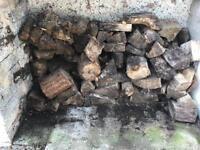 Seasoned firewood blocks