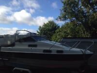 sealine 215 26ft boat with 2 double bedrooms on board in need of final touches but nearly there.