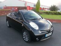 NISSAN MICRA SPORT C + C CONVERTIBLE, 06 PLATE, BLACK, MOT MARCH 2017.