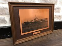 Framed Copper Picture of HMS Indefatigable