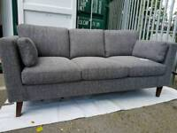 NEW Scandinavian Grey Modern 3 Seater Sofa DELIVERY AVAILABLE