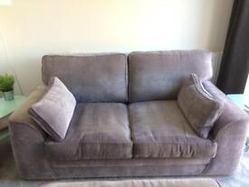 Silver grey fabric sofa