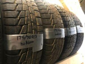 175/70R13 SET OF 4 NOKIAN ALL WEATHER 10/32, 8MM *LIKE NEW*