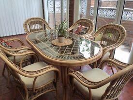 Rattan furniture set for garden or conservatory