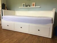 Ikea Hemnes day-bed frame with 3 drawers white