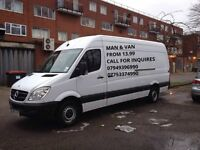 13.99 P/H Cheaper&Qucik Service, Relaible Man With Big Van All London area 07949396990/07753374990