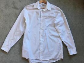 Calvin Klein white striped cotton shirt sz15.5