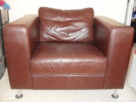 Leather armchair for sale.