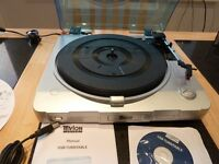USB TURNTABLE CONVERTS VINYL TO CD VIA PC. BARGAIN FOR QUICK SALE