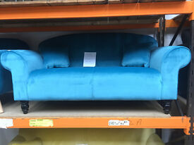 Turquoise Sofa with cushions ( new )