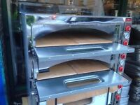 """CATERING COMMERCIAL NEW PIZZA OVEN 8 X 13"""" DOUBLE DECK FAST FOOD RESTAURANT CAFE KEBAB CHICKEN SHOP"""