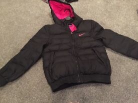 Girls Nike bubble jacket