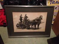 Steam Fire Engine picture, framed