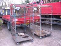 stillage cages ex city link, cheap , ideal many uses