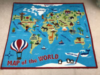 Kids Childs Map of the World Rug – Brockley, London SE4
