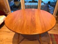 Ercol drop leaf kitchen table