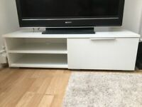 White High-Gloss TV Stand