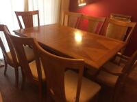 Large 8 seater dining table with extender