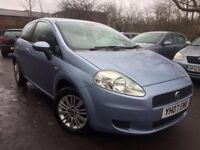 07 plate -fiat punto grande - 11 months mot - 2 former keepers - warranted low 53K - 3 door - petrol
