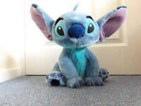 "Disney Store Exclusive Sitting Stitch 15"" Plush Soft Toy"