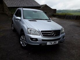 Mercedes-Benz ML320 CDi SE Silver, 89000 miles, immaculate condition, Sat Nav, FSH, many extras