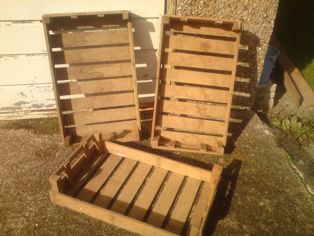 Large New Wooden Storage Box Diy Crates Toy Boxes Set: VINTAGE/RETRO WOODEN FRUIT BOXES,IDEAL FOR CHRISTMAS SHOP