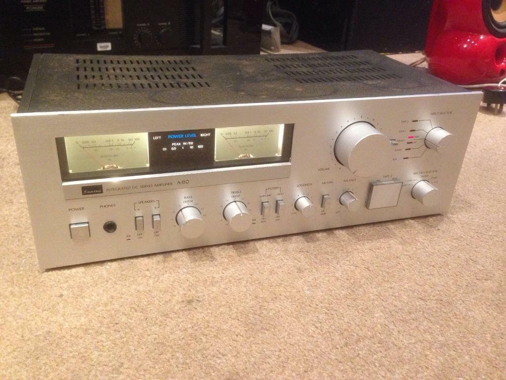 Sansui A 80 Vintage Integrated Hifi Amplifier With Vu Meters In Meter For Power Amplifiers