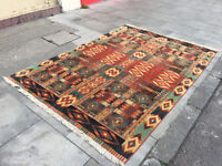 Contemporary Rug - Multi Coloured - Good Condition - Good Quality