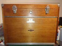 Neslein engineer machinist chest cabinet tool box RESTORED