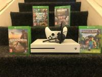 Xbox one s 1tb with headset and 4 games