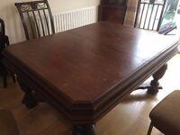 Large wooden dining table / desk, antique